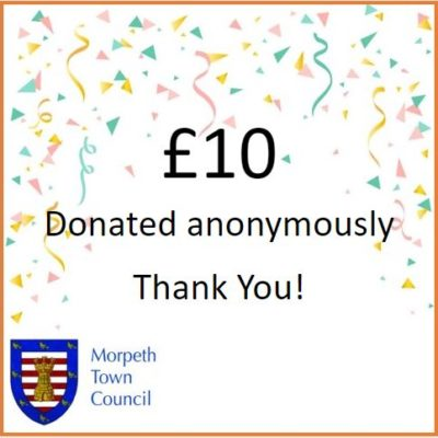 Anonymous Charity Donation £10 - Click to open full size image