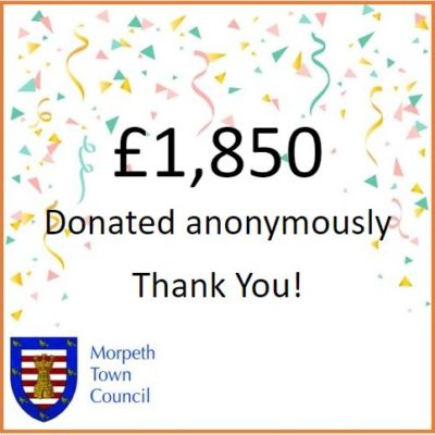 Anonymous Charity Donation £1,850 - Click to open full size image