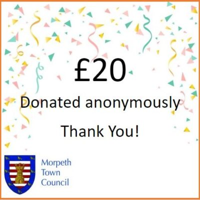 Anonymous Charity Donation £20 - Click to open full size image