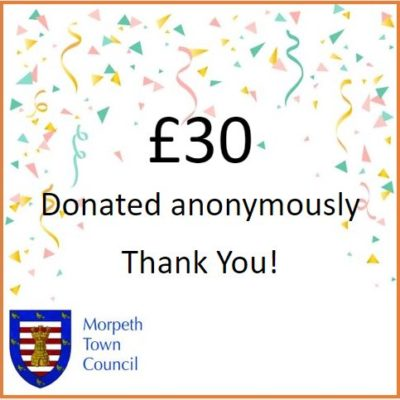 Anonymous Charity Donation £30 - Click to open full size image