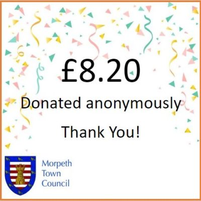 Anonymous Charity Donation £8.20 - Click to open full size image