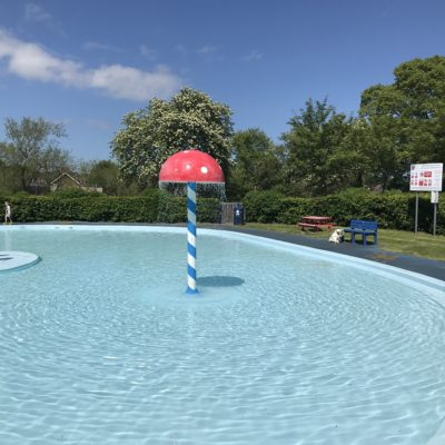 Mushroom Water Feature at the Paddling Pool - Click to open full size image