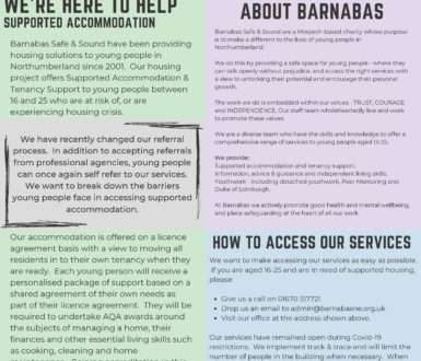 Barnabas Safe And Sound Housing Services Info