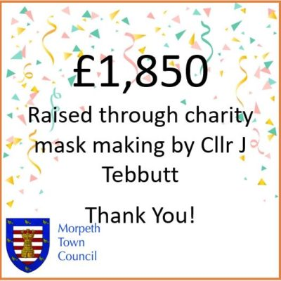 Mayor's Charity Donation Masks £1,850 - Click to open full size image