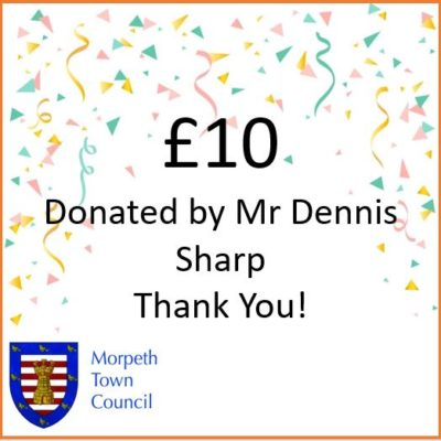 Mayor's Charity Donation Mr Dennis Sharp £10 - Click to open full size image