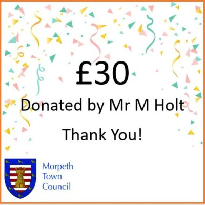 Mayor's Charity Donation Mr M Holt £30 - Click to open full size image