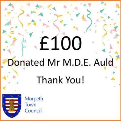 Mayor's Charity Donation Mr Mde Auld £100 - Click to open full size image