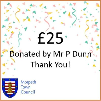 Mayor's Charity Donation Mr P Dunn £25 - Click to open full size image