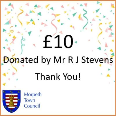 Mayor's Charity Donation Mr R J Stevens £10 - Click to open full size image