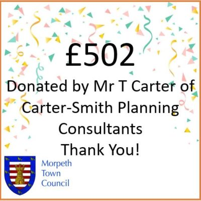 Mayor's Charity Donation Mr T Carter Of Carter Smith Planning Consultants £502