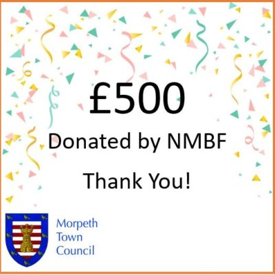 Mayor's Charity Donation Nmbf £500 - Click to open full size image