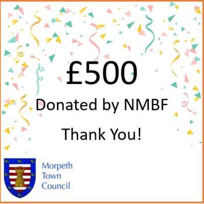 Mayor's Charity Donation Nmbf £500