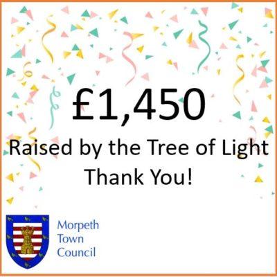 Mayor's Charity Donation Tree Of Light £1,450