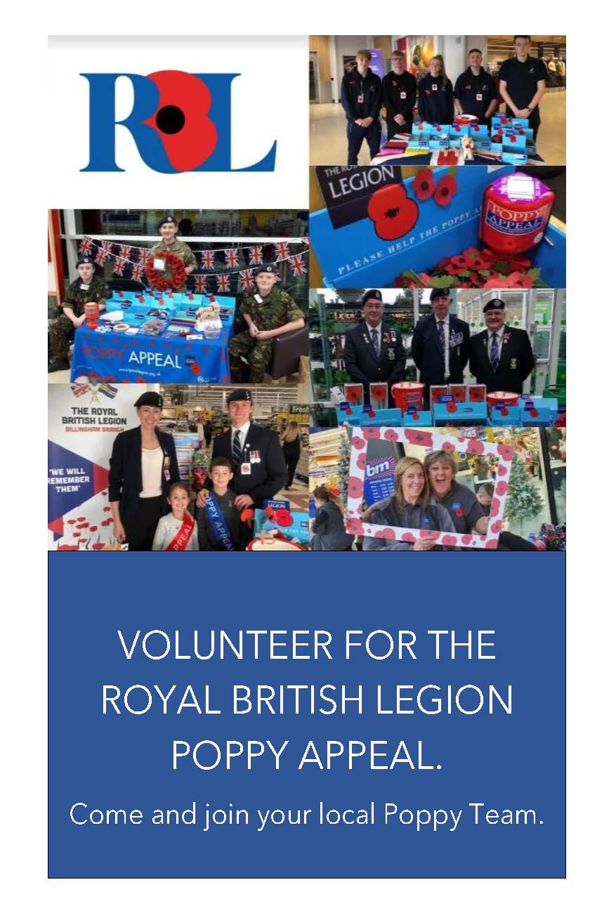 Poppy Appeal Representative Recruitment Flyer Page 1
