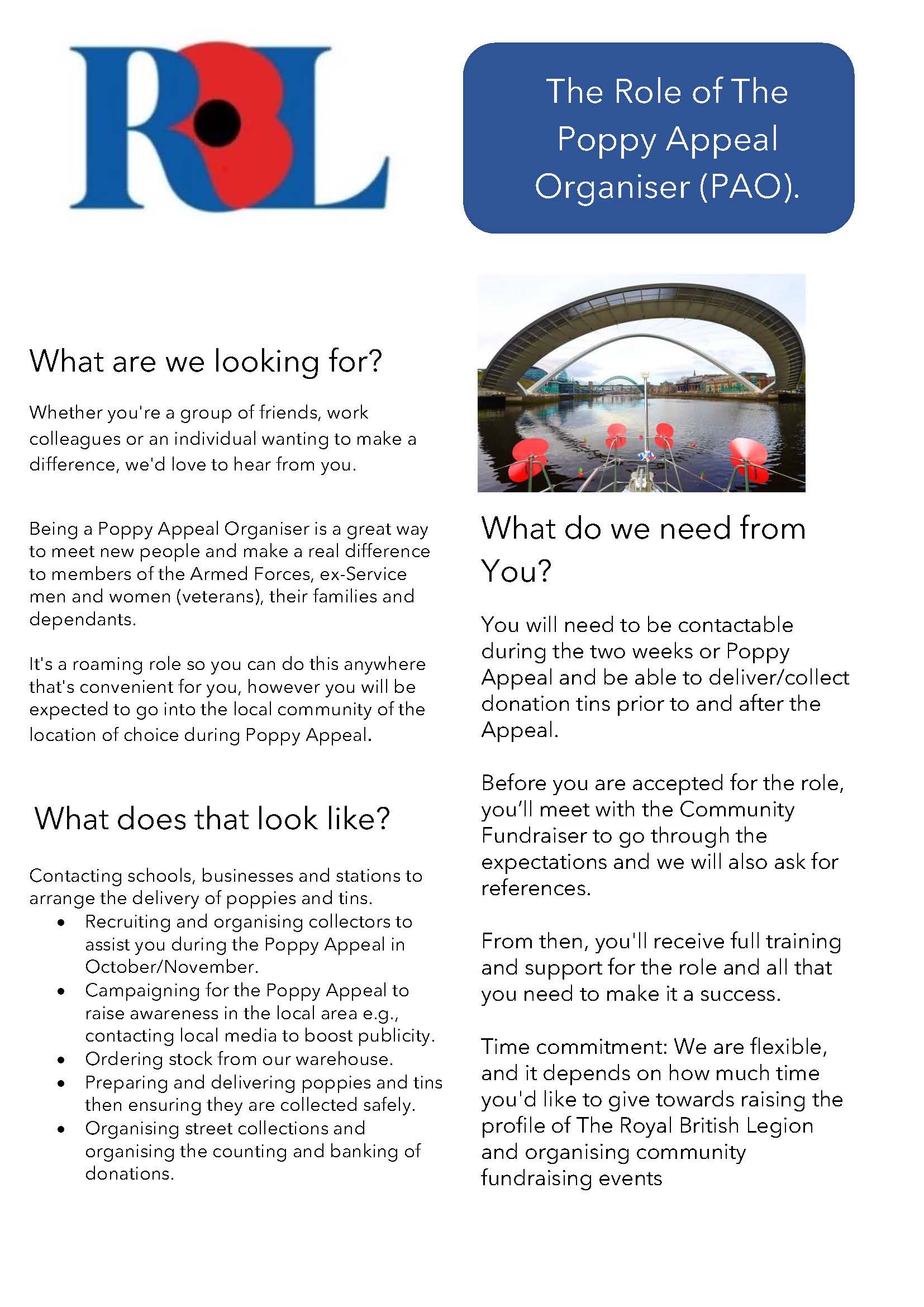 Poppy Appeal Representative Recruitment Flyer Page 3