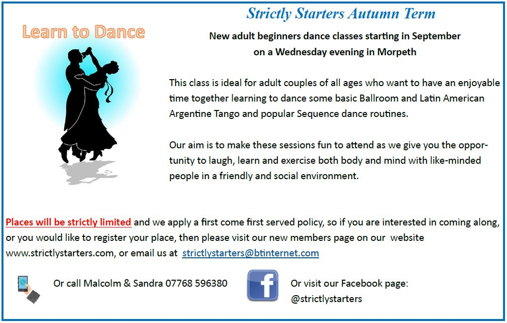 Strictly Starters Autumn Term Poster