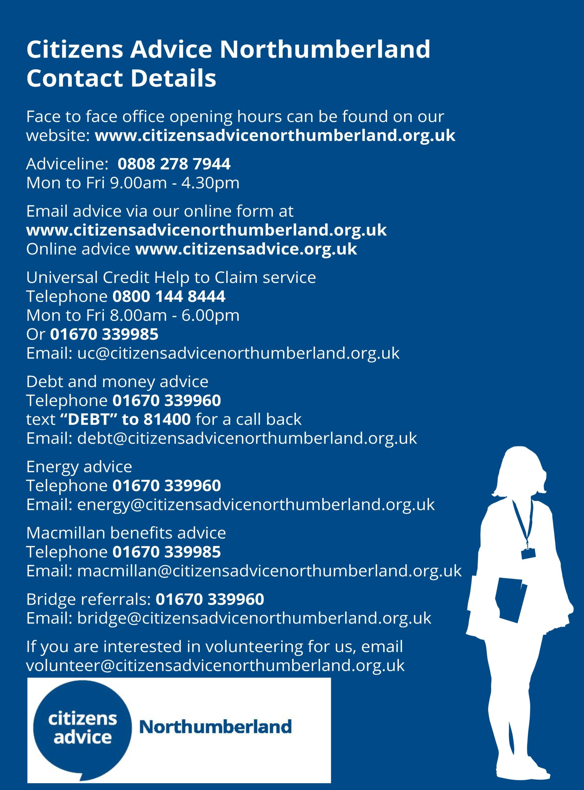 Citizens Advice Northumberland Contact Details